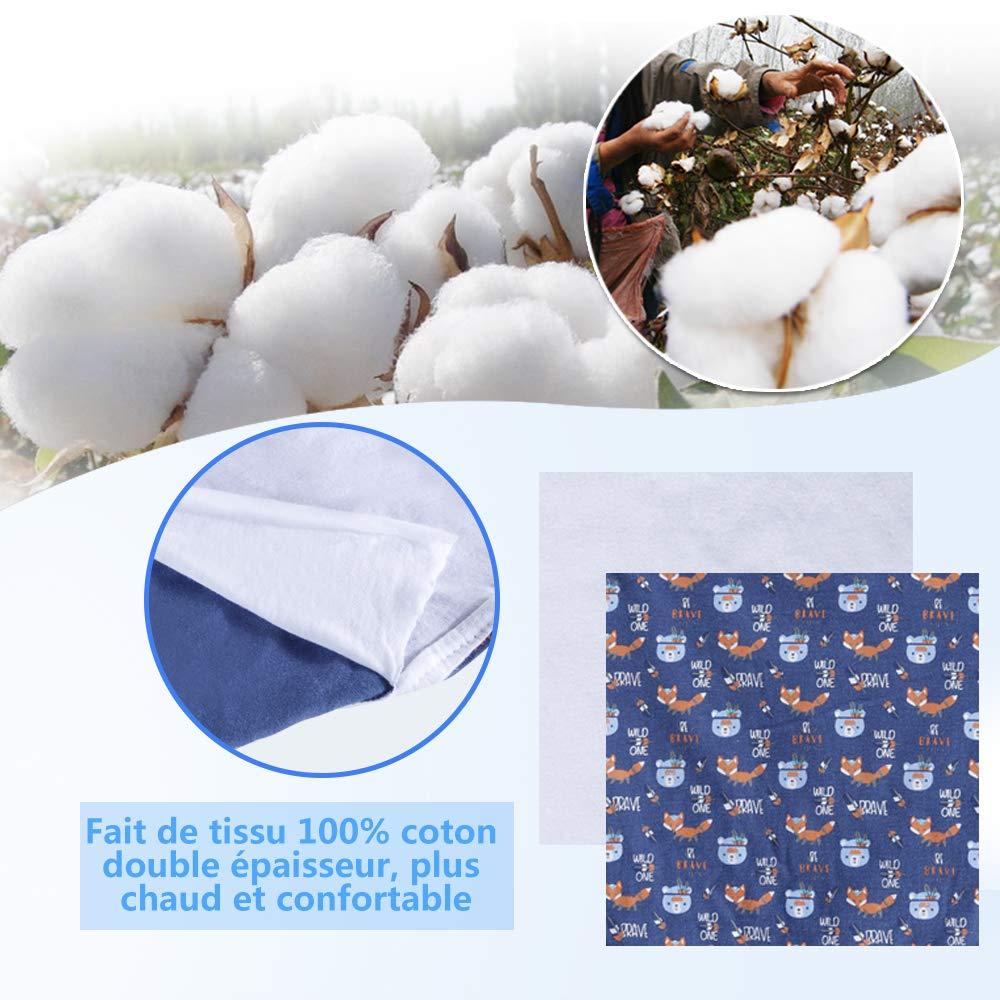 56x28cm Lictin Gigoteuse dEmmaillotage 2pcs Couvertures demmaillotage Couverture B/éb/é R/églable 100/% Cotton Avec 3pcs Bonnets Coordonn/és pour le Nouveau-n/é 0-6 mois