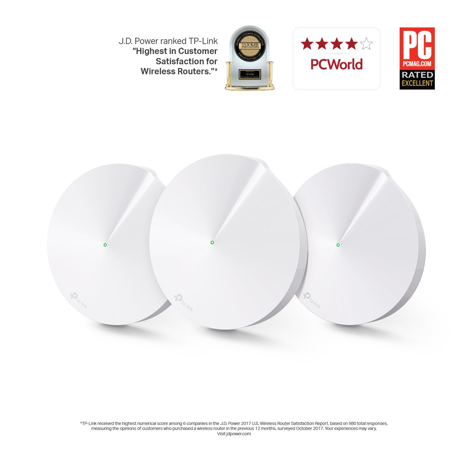 TP-Link Deco Whole Home Mesh WiFi System (3-Pack) - Replace WiFi Router and Range Extenders, Simple Setup, Works with Amazon Alexa, Up to 4,500 sq. ft. Coverage (M5) by TP-Link (Image #2)