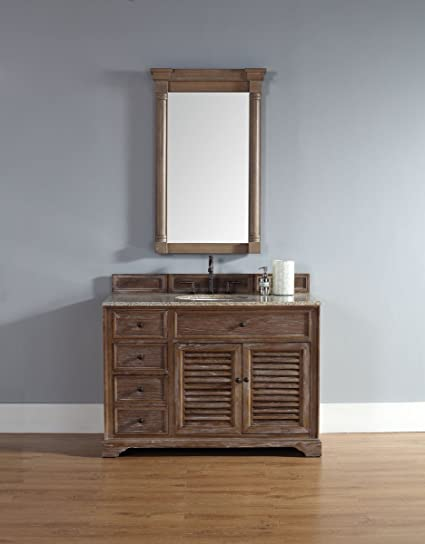 Single Vanity Cabinet In Driftwood Finish