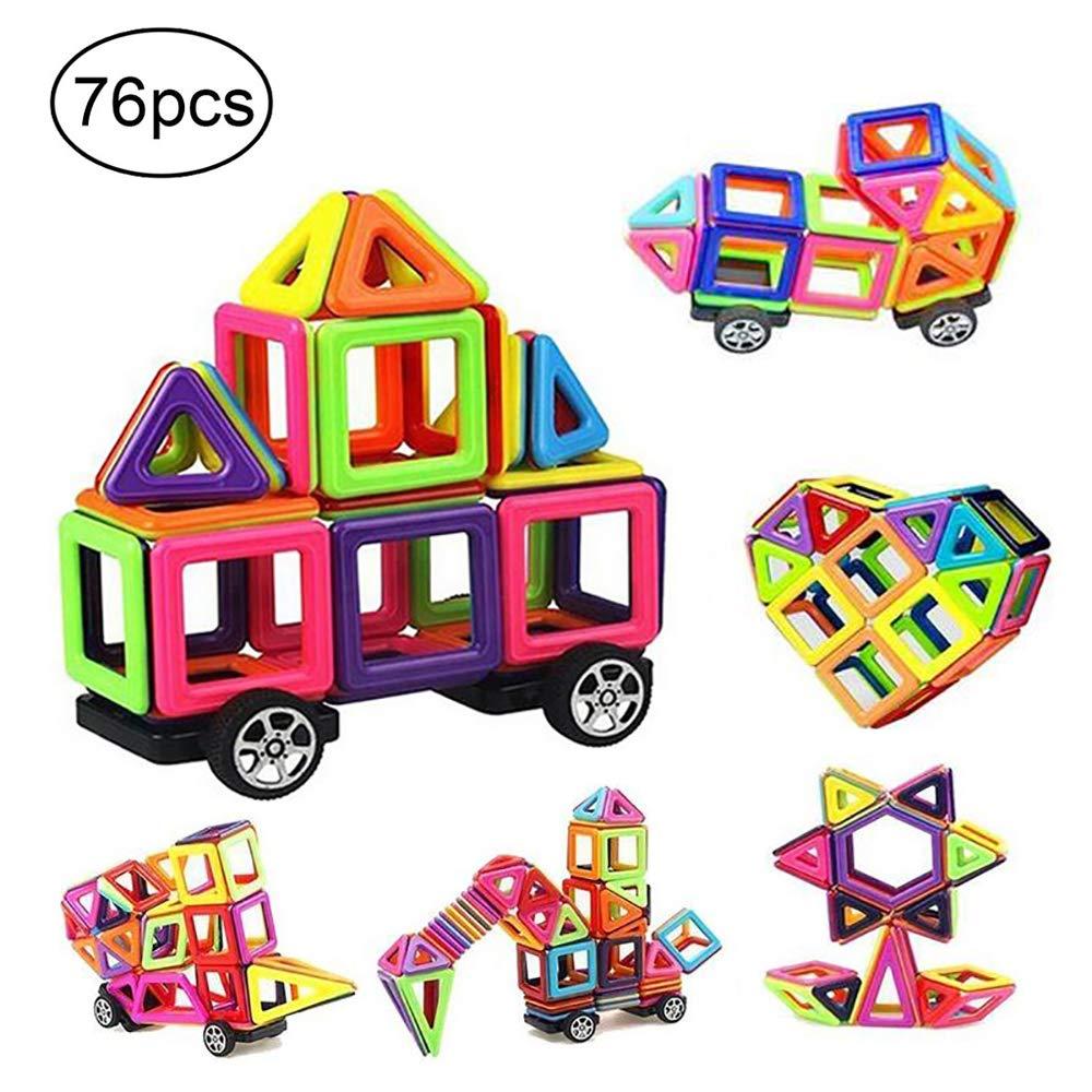 【ポイント10倍】 camande磁気建物ブロックセット、子供マグネットConstruction Stacking Stacking Toy説明小冊子 Mini 76、完璧でレインボーカラーcreavity教育ギフトセット マルチカラー FBA_Blocks-MN B06Y661K8R Mini Size 76, YAMATAベジフル:5c60bbf8 --- dou13magadan.ru