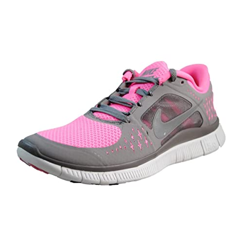 NIKE Womens Free Run 3 Polarized PinkReflect SilverSpirit Gray 9.5  Medium (