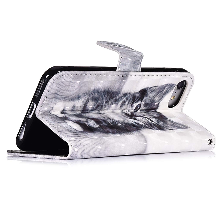 Uposao Kompatibel mit iPhone SE//iPhone 5S Handyh/ülle Leder Tasche Bling Glitzer 3D Effekt Gl/änzend Muster H/ülle Flip Wallet Case Brieftasche Klapph/ülle St/änder Kartenfach,Haustier