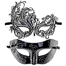 Couples Pair Half Venetian Masquerade Ball Mask Set Party Costume Accessory