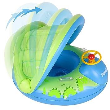 Peradix Flotadora para bebés 6meses-3 Años Barco Inflable Flotador ...