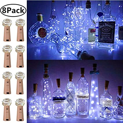 2M 20 LED Wine Bottle Cork Fairy String Lights Battery Operated For Xmas Wedding Celebration & Occasion Supplies Home, Furniture & DIY