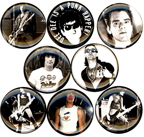 Ramones Pin Button - Dee Dee Ramone 8 NEW 1