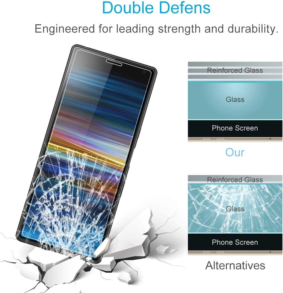 GzPuluz Glass Protector Film 100 PCS 0.26mm 9H 2.5D Tempered Glass Film for Galaxy A6+ 2018