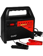 Deuba Batterieladegerät Auto | Überhitzungsschutz Schutzschaltung | 6V 12V Autobatterie Ladegerät 6A KFZ Batterie Akku