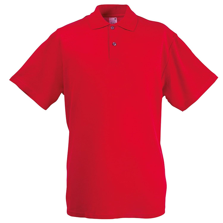 Fruit of the Loom - Polo - para Hombre Rojo Rosso Medium: Amazon ...
