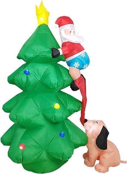Papá Noel inflable de poliéster de miss-an   soplado   Árbol ...