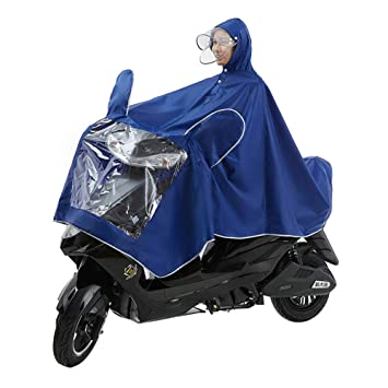WXH Abrigo Impermeable Doble Poncho Oxford Chal Ropa Chaqueta Impermeable Grande Transpirable Hombres y Mujeres con Espejo Moto Motocicleta Scooter ...