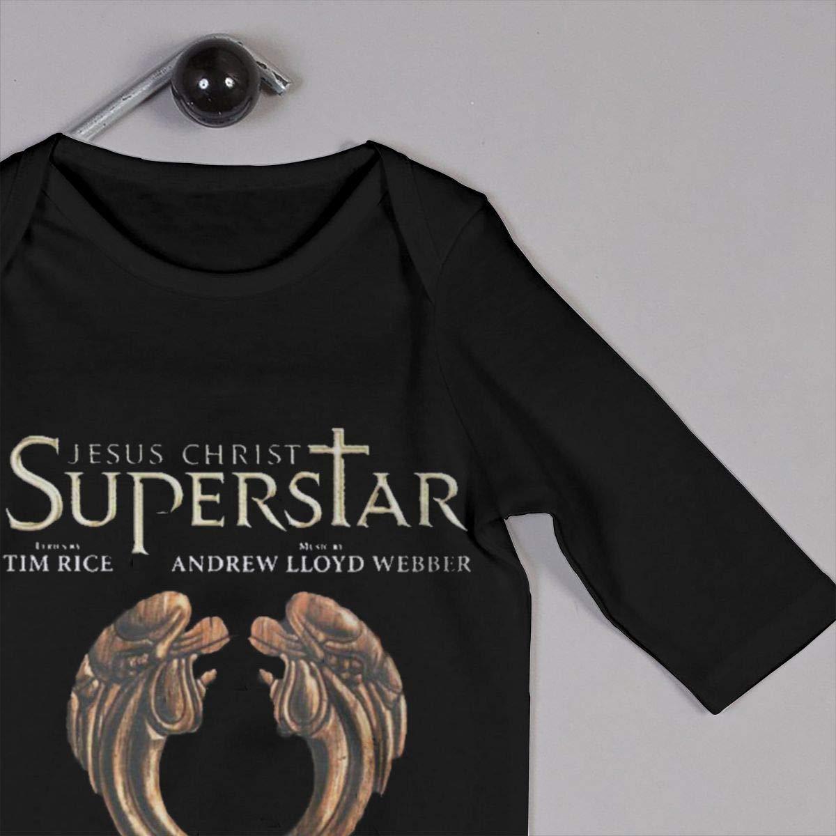 Kids Baby Long Sleeve Romper Je-sus-Christ-Super-Star Unisex Cotton Cute Jumpsuit Baby Crawler Clothes