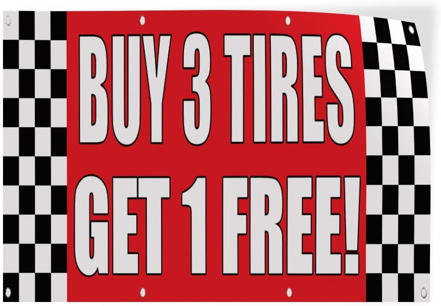 Auto Body Shop Car Automotive Buy 3 Free 1 Outdoor Store Sign Red Decal Sticker Multiple Sizes Buy 3 Tires Get 1 Free Set of 5 36inx24in