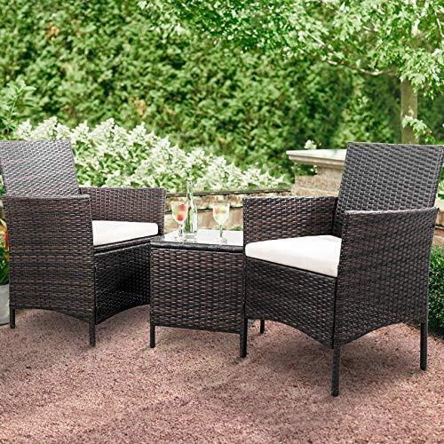 Greesum GS-3RCS8BG 3 Pieces Outdoor Patio Furniture Set