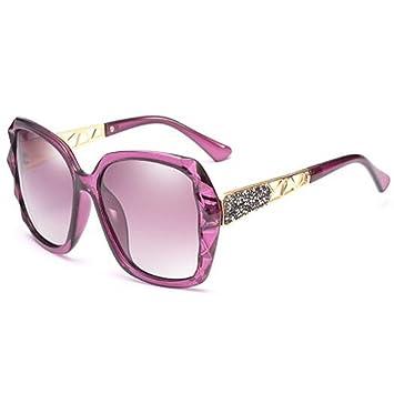 1071fa90d2 LQQAZY Polarizado Gafas De Sol Mujeres Marea Caja Grande Cara Redonda Gafas  De Sol Cara Larga