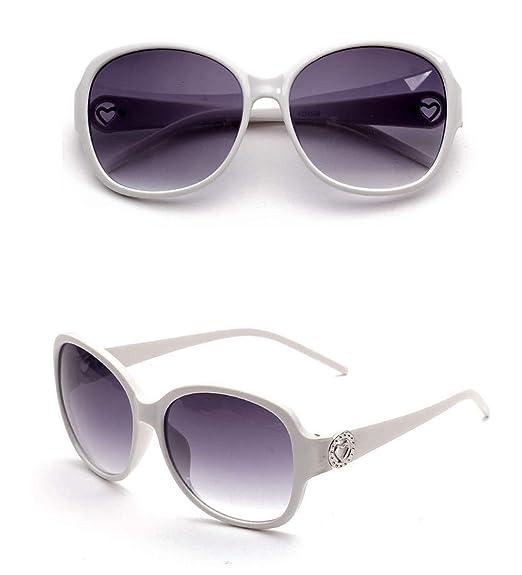 ANAZOZ Gafas de Sol Lente Blanco Gafas Sol Mujer UV400 Gafas ...