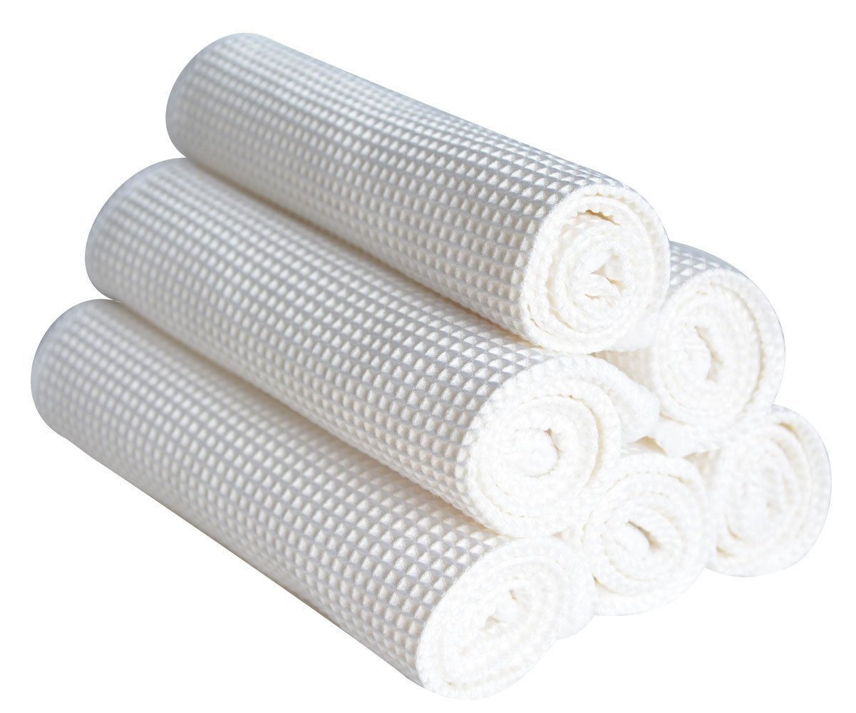 Sinland Microfiber Deep Waffle Weave Facial Cloths 12inch X 12inch White