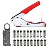 Coax Cable Crimper BUYGOO Coaxial Cable Stripper