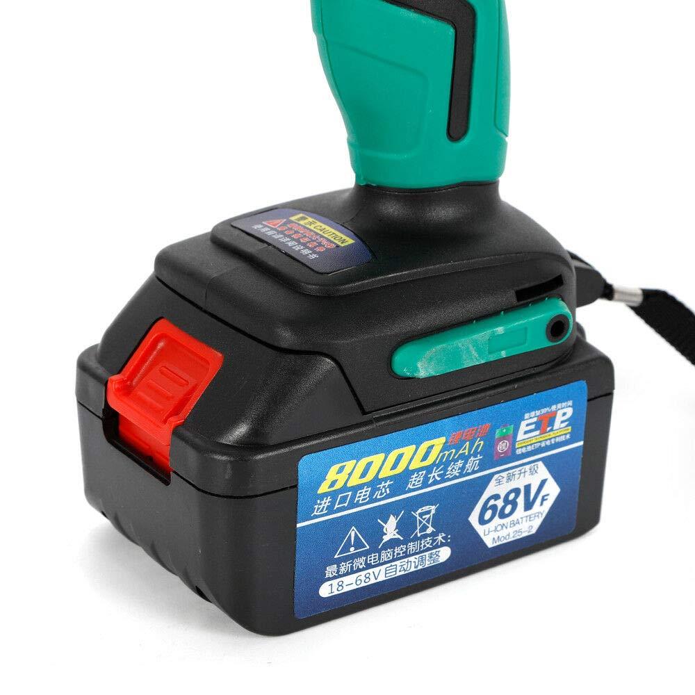 Atornillador de impacto con bater/ía de 1//2 pulgadas con luz LED y bater/ía de iones de litio. par de torsi/ón 420 Nm 21 V//3 A