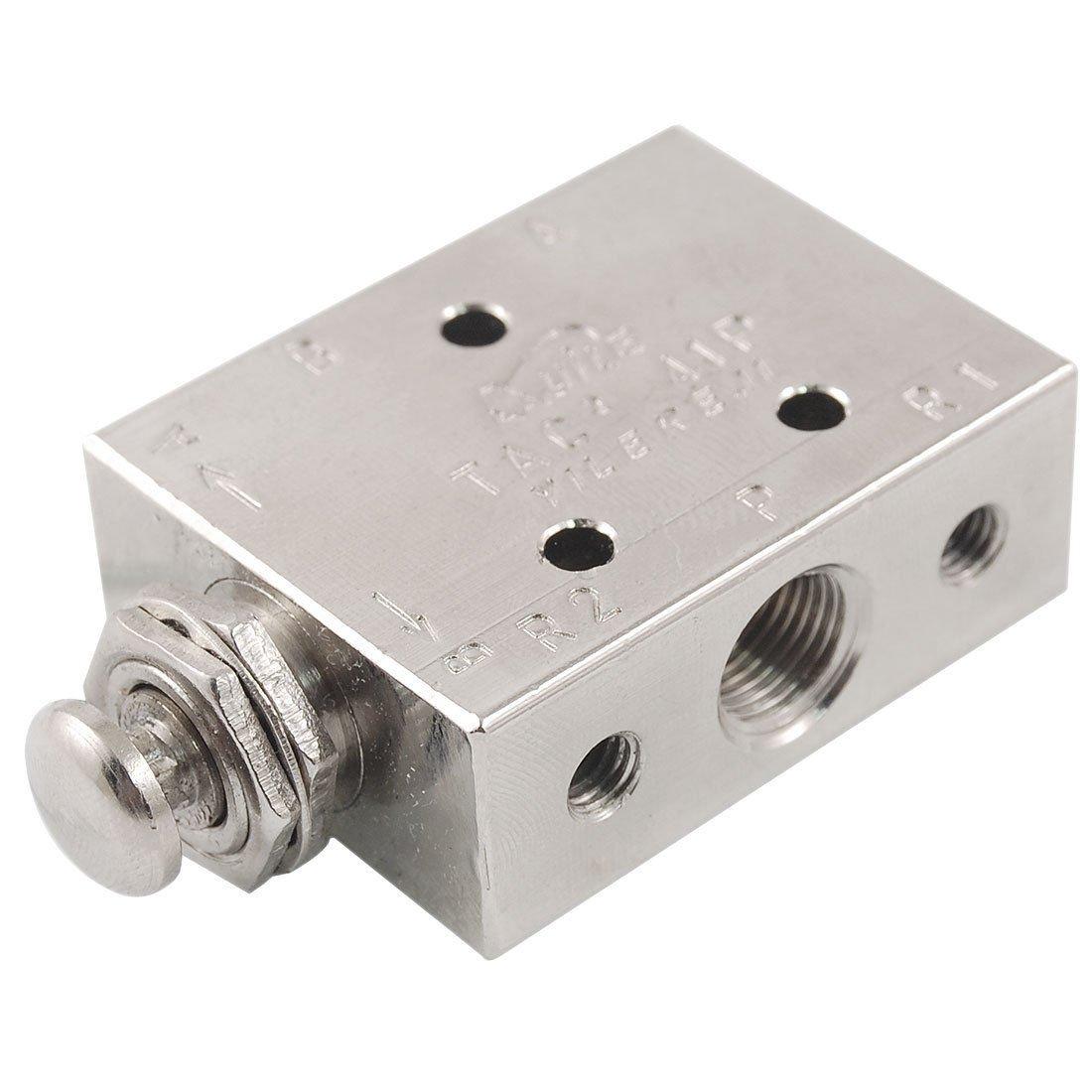 Pneumatic 2 Position 3 Way Spring Return Button Air Valve TAC2-41P