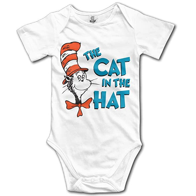 ec85b2059 Amazon.com: Baby Onesie Dr Seuss The Ca In The Hat Funny Baby Jumpsuit:  Clothing