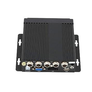Amazon.com: 4 canales 4 Ch coche coche móvil DVR SD 4CCD ...