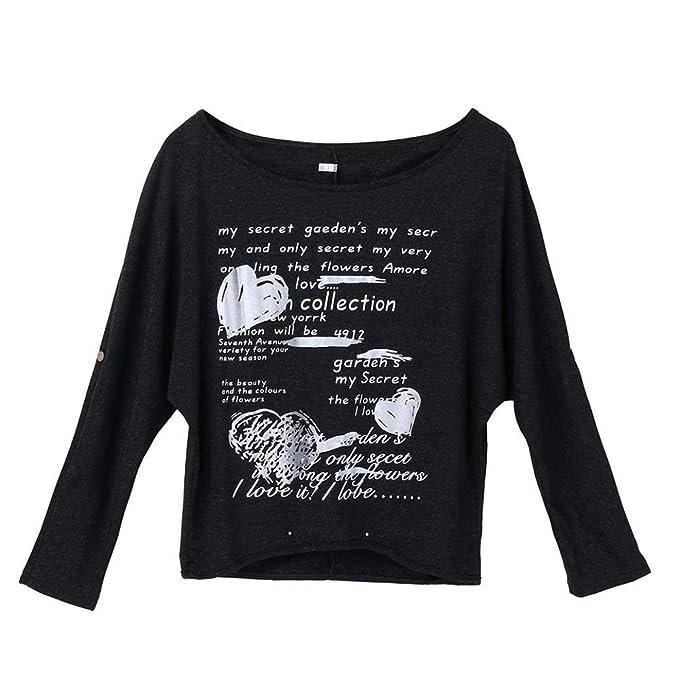 Sudadera Mujer Blusa, BBestseller Camisas Tops Camiseta Hombro Mujer, Camisas Mujer Originales Manga largas Escudo Camiseta Pulóver Mujer Ropa cálida: ...