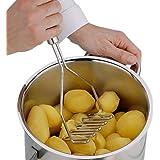 Potato Mashers ,FTXJ Stainless Steel Wave Shape Masher Tool