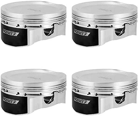 1 Pack 75mm DE-Stroker 99.75mm +.25mm Size Bore 8.5:1 Dish Manley 632002C-4 Piston Kit Set 04+ Subaru WRX//STi EJ257