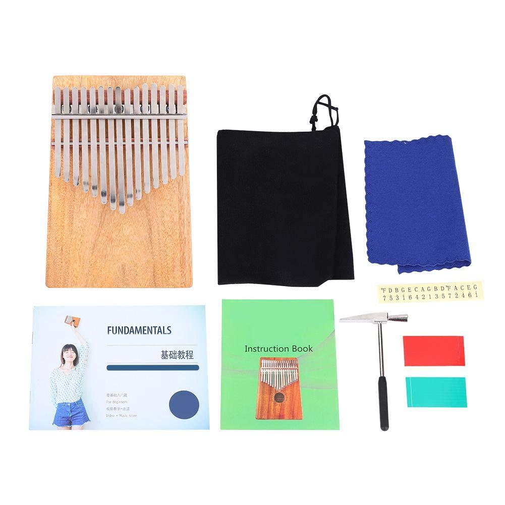 Thumb Piano, RiToEasysports Portable Kalimba 15 Keys Full Solid Camphorwood Thumb Piano K15CAP