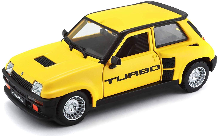 Fertigmodell RENAULT 5 Turbo 1982 gelb Bburago 1:24 Modellauto