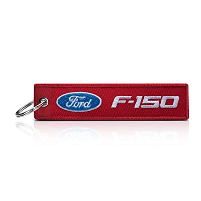 JIYUE 1Pack Embroidered Tag Keychain Key Ring for Ford Car Motorcycles Bike Biker Key Chain Bag Phone Chain for Ford Accessories Gifts(Ford f150): Automotive