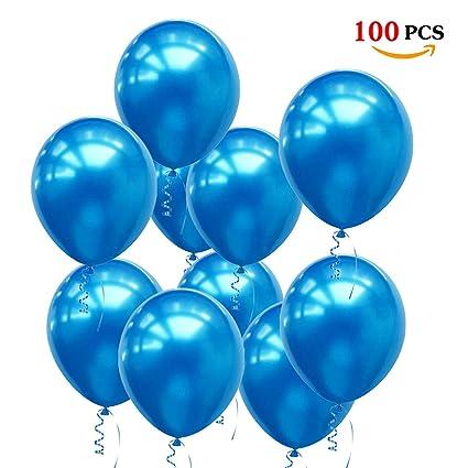 Luftballons Blau100 Stück Ballon Blau Latex Helium Für