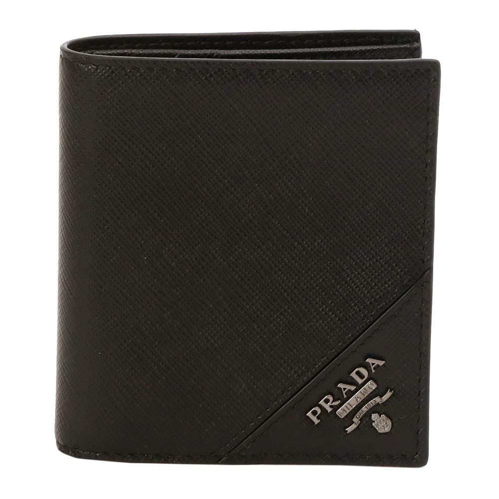 [プラダ] PRADA メンズ 財布 カードケース レザー 2MO004 QME SAFFIANO METAL NERO ブラック [並行輸入品] B07QPLYVCY
