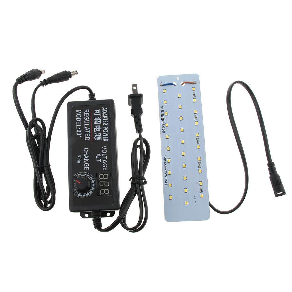 Elektroinstallation LED Lampen Perfk LED Dimmbare Schattenlose Lampe Für  Fotostudio Lichtzelt Fotozelt