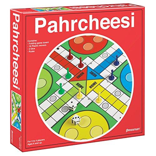 - Pressman Toy Pahrcheesi in Box, Red