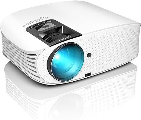 YABER Video Proyector Full HD 1080P Proyector Cine en casa con el Interfaz HDMI// USB// VGA// AV