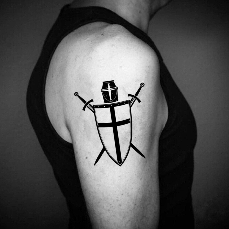 Tatuaje Temporal de Cruz cruzada (2 Piezas) - www.ohmytat.com ...