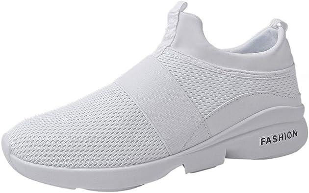 ZODOF Zapatillas para Hombre Altas Aire Libre y Deporte Transpirables Casual Yoga Zapatos Gimnasio Correr Sneakers: Amazon.es: Zapatos y complementos