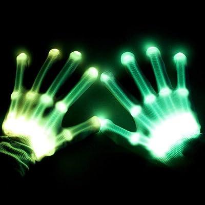 BFYWB Gifts for 3-12 Year Old Boys Girls, LED Gloves Finger Lights Fingertips Flashing New Cool Party Favor Christmas Gifts Hot Toys for 4-11 Year Old Boys Girls Birthday: Toys & Games