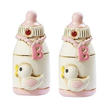 Babyflasche Rosa Baby Taufe Geburt Tortendekoration Tortenfigur