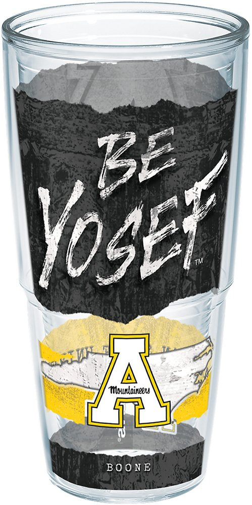 Clear Tervis 1251641 Appalachian State Mountaineers College Statement Insulated Tumbler With Wrap 24 oz