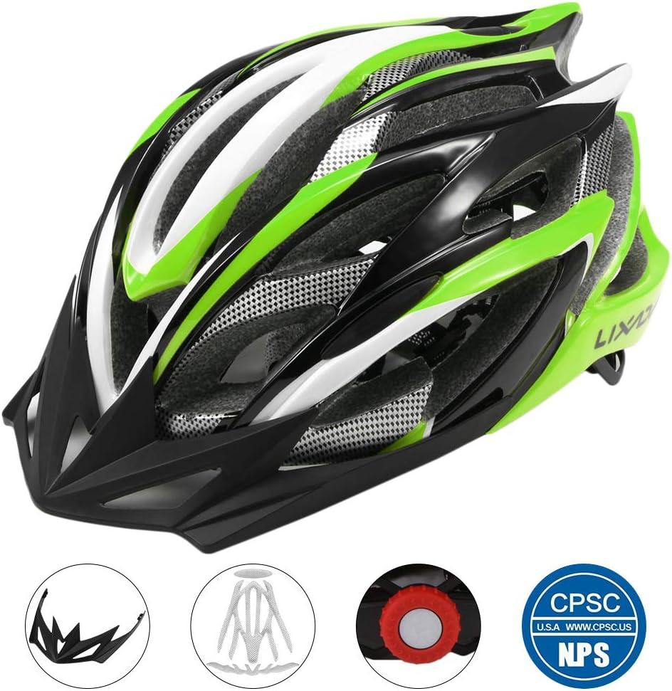 Lixada Bike Helmet Mountain Bicycle Helmet 25 Vents Adjustable Comfortable Safety Helmet for Outdoor Sport Riding Bike