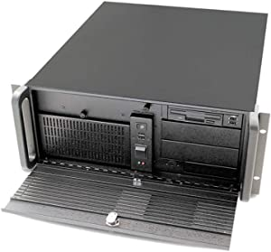 Aic RMC-4S3-0-0-200-C No Power Supply 4U Rackmount Server Chassis (Black)
