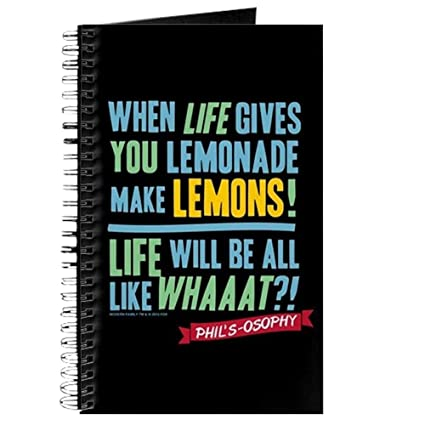 amazon com cafepress modern family make lemonades spiral bound
