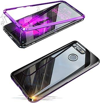 Alsoar Adsorción Magnética Funda Compatible con Samsung Galaxy S7 Edge Estuche Vidrio Templado Transparente Trasera Cubierta Marco de Metal 360 Grados Protección Carcasa (Púrpura): Amazon.es: Electrónica