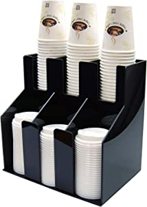Winco 2 Tiers 3 Stacks Cup & Lid Organizer