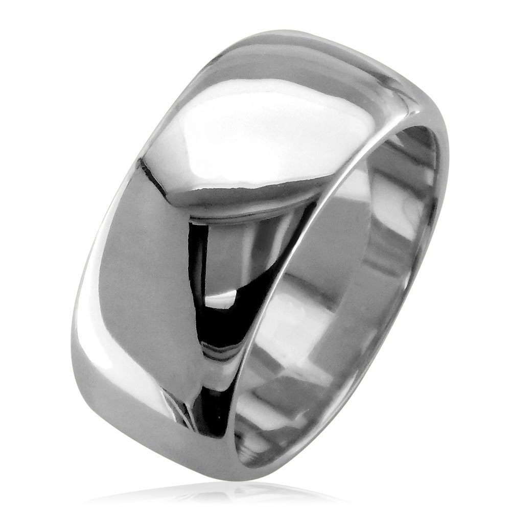 Mens Classic Plain Domed Wedding Band 11mm Wide In 14k White Gold Amazon: 11 Mm Wedding Bands At Reisefeber.org