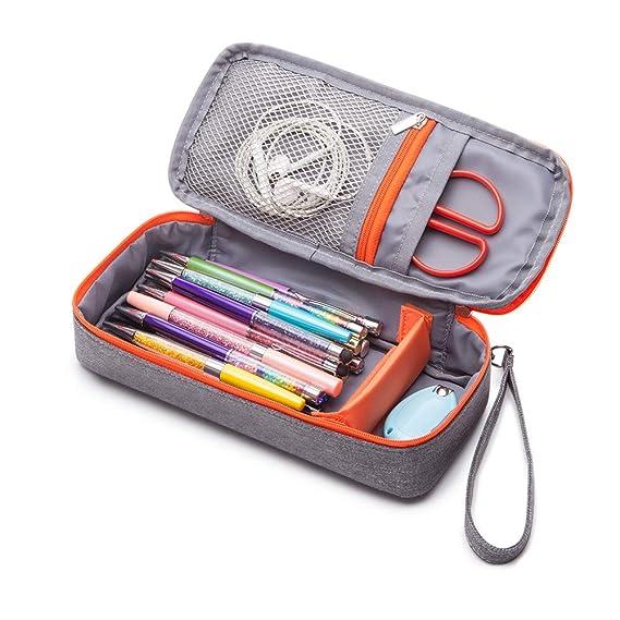 Pencil Case, Big Capacity Pen Case Desk Organizer Pencil Bag Organizer with with Handle Strap