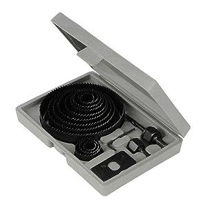Silverline 633729 Juego coronas perforadoras, 16 pzas 19 - 127 mm